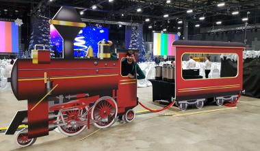 Поезд в сказку. Оформление новогоднего корпоратива