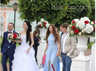 Оформление свадьбы Беллы и Владимира вход